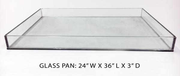 Glass Pan 2 - 24x36x3 Image