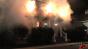 Gildan Exterior House Fire - On Set Image